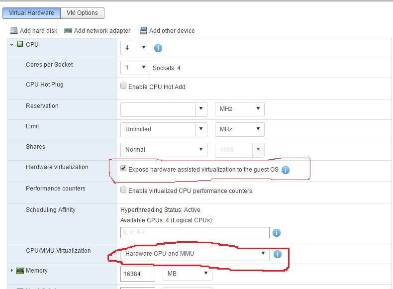 How to run Nested Windows 2012 R2 Hyper-V in vSphere 6 5